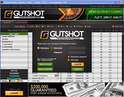 Gutshot poker